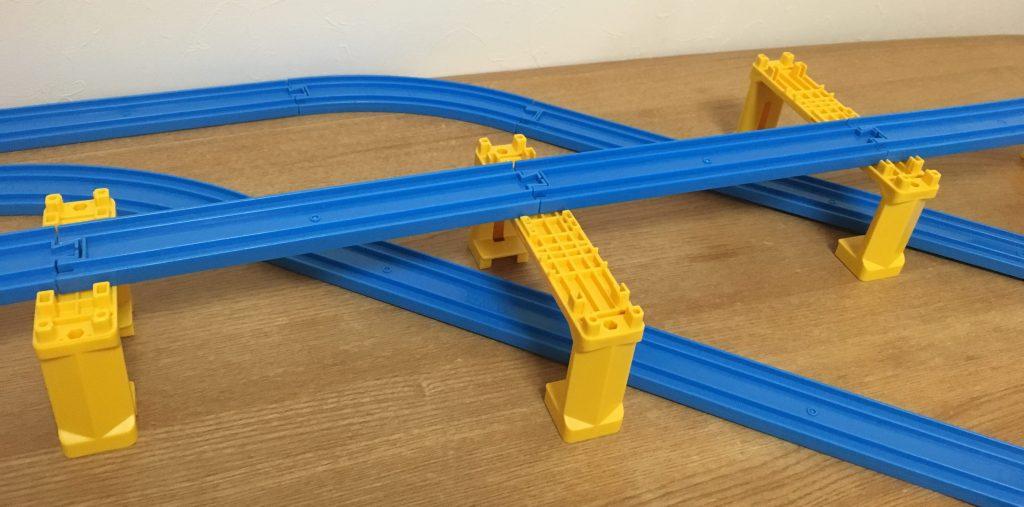 プラレール 複線ブロック橋脚