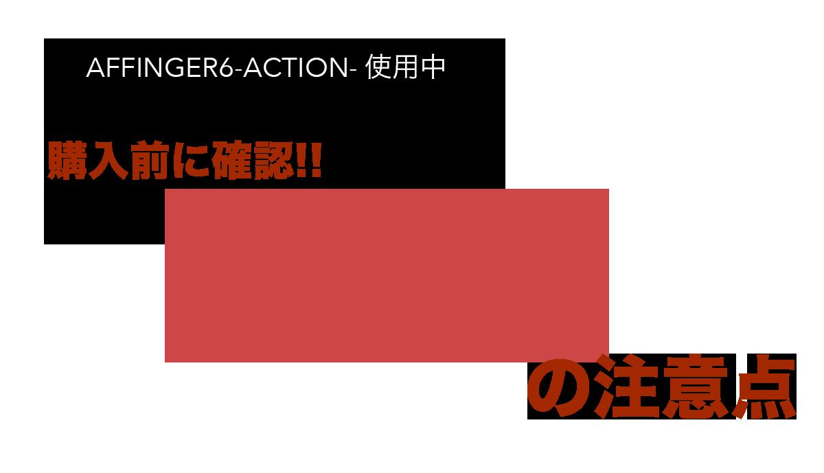 AFFINGER6 ACTION の注意点