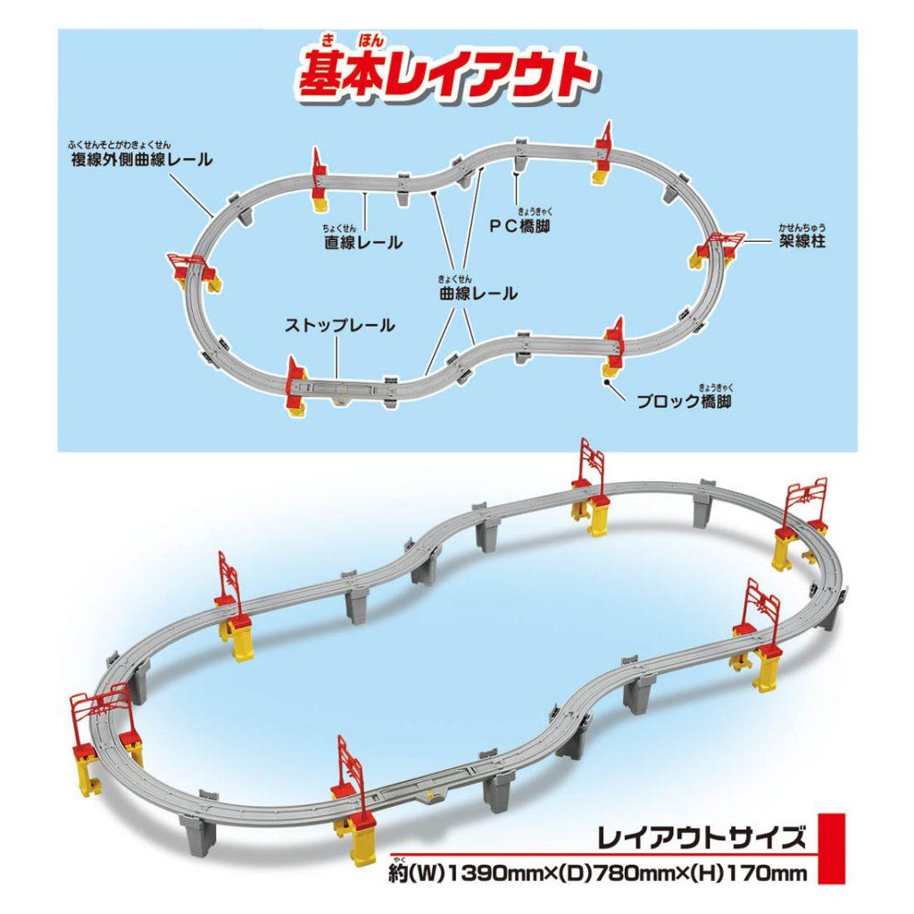 プラレール 高架を走らせよう!新幹線レールセット