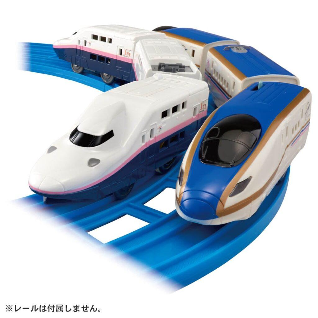プラレール さよならE4系新幹線Max&E7系上越新幹線(朱鷺色仕様)